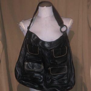 Banana republic ASNEW Goa black leather bag